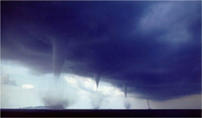 Tornadoes in a line